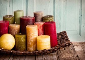 A bright collection of candles for any room