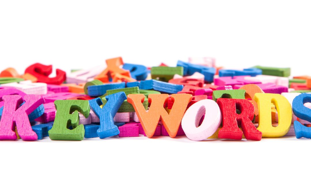 Colorful words spelling out KeyWords for Search Engine Optimization Techniques